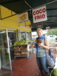 Tanja was fascinated by all the tropical fruit!