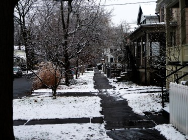 Ithaca, NY. Since Spring has finally showed her lovely face, Winter, I will see you next time! --and with great joy:-)