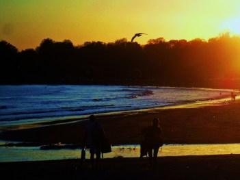 Sunset off the coast of Road Island.