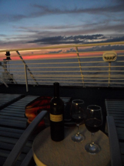 As we sailed farther and farther away from the sun, it was nice to enjoy a great glass of malbec. Tanja, thanks for accompanying me on this!