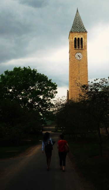 Cornell University Bell Tower.  Storm was blowing in.