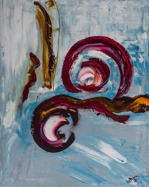 Acrylic on Canvas. 22 x 28 iches