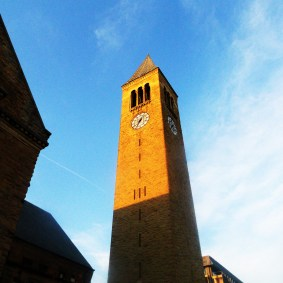 When I walk to work I'm always right under this bell tower when it starts playing music, usually 7:45am.