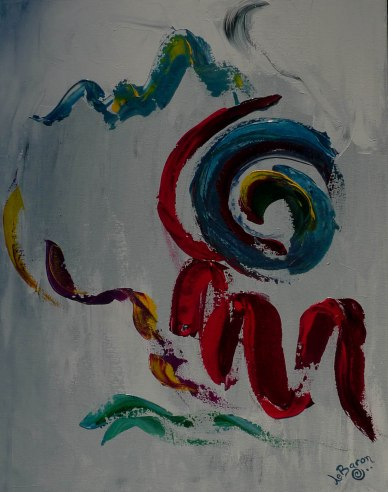 I love this painting! It's called Magic Words. To me that means the words that empower you, change you or heal you.