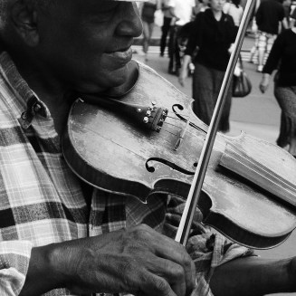 I will always appreciate musicians playing in the streets! It adds such richness to life.