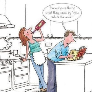 I enjoy cooking with my friends...and we always drink malbec or carmenere when we do!