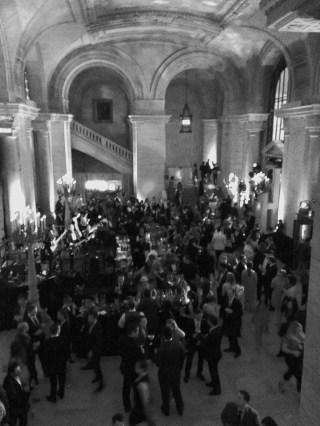 Crowd on 1st floor