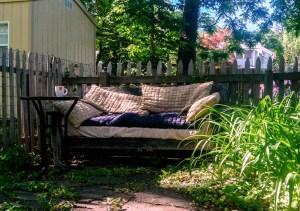 bench in my back yard