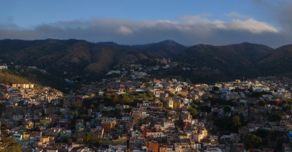 View of Guanajuato from the hill where the radio antennas are