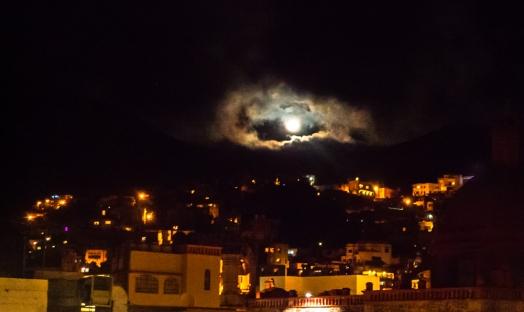 Moonrise over Guanajuato