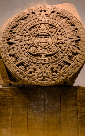 Also known as the Aztec Calendar, sometimes confused with the Mayan Calendar, La Piedra del Sol sits within the walls of the Anthropology Museum in Mexico City.
