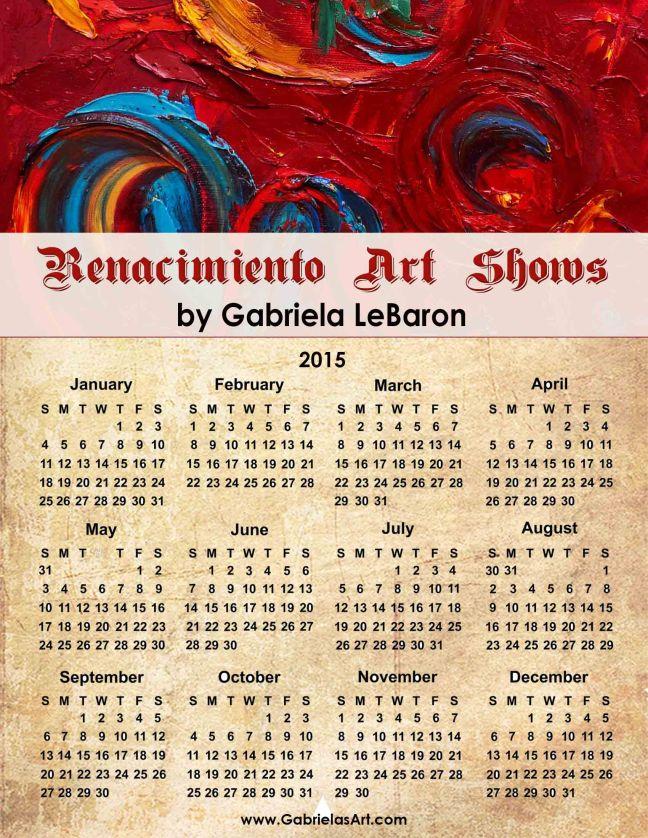 Renacimiento 2015 Calendar