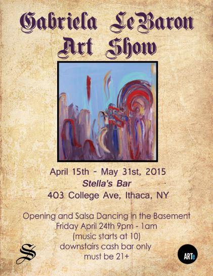 Stella's Art Show Flyer